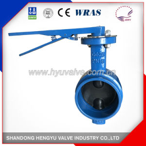 Grooved End Butterfly Valve with Cast Iron Handle pictures & photos