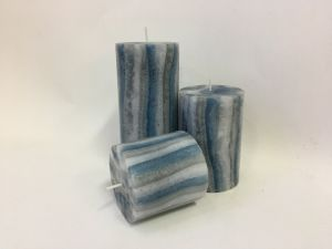 Light Grey Pillar Candle Eco Friendly New Concept Designed Pillar Candle pictures & photos