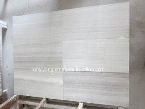 White/Grey Wood Marble Tiles for Flooring and Walling pictures & photos