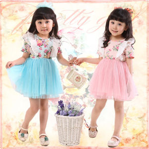 Wholesale Beautiful Child Girl Baby Dress Party Dress Friendly Clothing (ZYG0225)