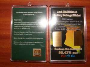 24k Golden Anti Radiation Gifts Digital Mobile Cell Phone Sticker pictures & photos