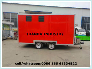 10FT X 7FT Towability Catering Food Trailer Twin Axle Mobile Burger Van pictures & photos
