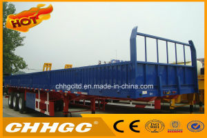 Dropside Cargo Transport Semi Trailer with Twist Lock pictures & photos