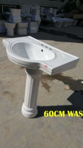 Ceramic Pedestal Basin 60# with Saso/Ce pictures & photos