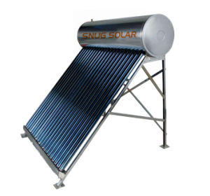 Compact Unpressurized Evacuated Tube Solar Hot Water Systems pictures & photos