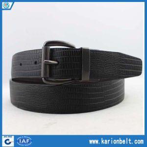 Formal Lizard Grain Reversible Leather Dress Belt (30-13100)