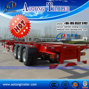Tri Axle Flatbed Container Semi Trailer for 40ft Container pictures & photos