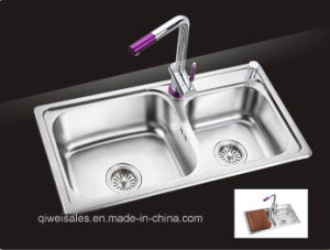 Stainless Steel Handmade Kitchen Sink (QW-105) pictures & photos