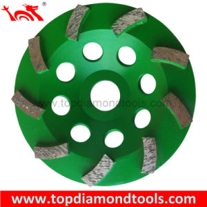 Swirl Cup Grinding Wheels with 9 Segments pictures & photos