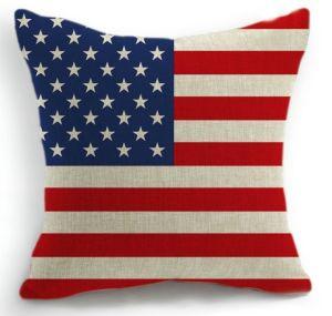 Print Cushion Polyester Us Flag Cushion (PK001) pictures & photos