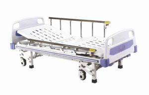 Three Functions Medical Bed Controlled by Crank Handles Manually pictures & photos