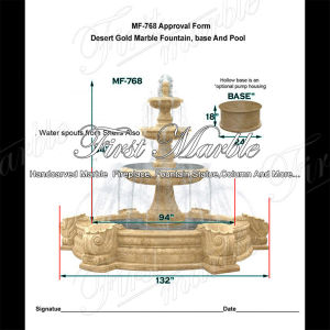 Beautiful Three Tired Desert Gold Fountain for Home Decoration Mf-768 pictures & photos