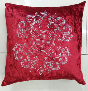 Hand-Made Decorative Pillow Diamond Ironing Decorative Cushion (XPL-55) pictures & photos