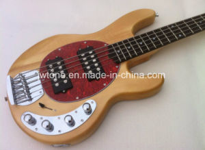 Basswood 5 String Music Oip Active Pickups Electric Bass Guitar pictures & photos