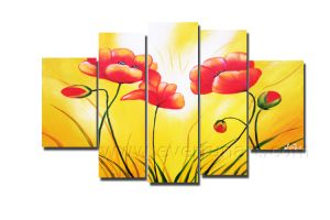 Handmade Flower Canvas Oil Painting for Wall Decor pictures & photos