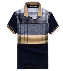 Men′s Mercerized Cotton Business Polo T-Shirt pictures & photos
