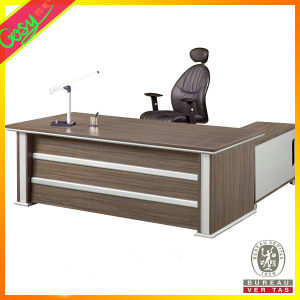 Wood Furniture L-Type Office Desk, Filing Cabinet-Ideal Office Furniture