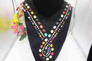Europe Fashion Lace Collar Colored Beads Sew on Beads Mesh Net (TA-006) pictures & photos