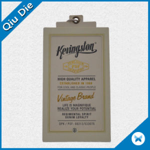 High Quality Hang Tag with Gold Hot Stamping for Apparel Label pictures & photos