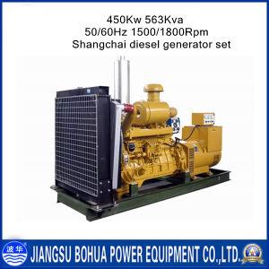 Water Cooled 563kVA Shangchai Serires Diesel Generator Set
