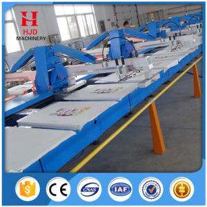 Manual Turntable T-Shirt Garment Textile Screen Printing Equipment pictures & photos