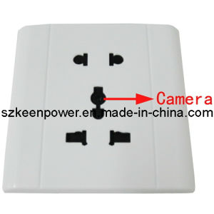 White Electronic Outlet with Camera Support TF Card pictures & photos
