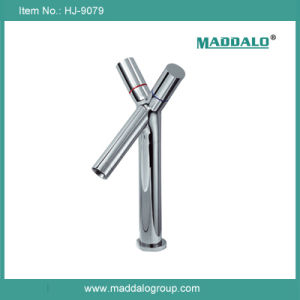 Chrome Surface Y Shape Dual Lever Copper Bathroom Mixers (HJ-9079)