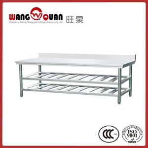 Stainless Steel Workbench 3 Tier with Splashback for Commercial Kitchen pictures & photos