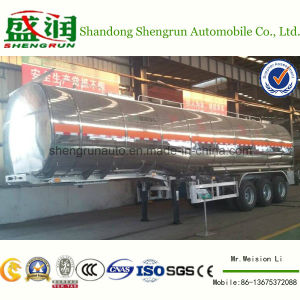 Aluminium Alloy Trailer Chemical Liquid Transport Tank Semi Trailer