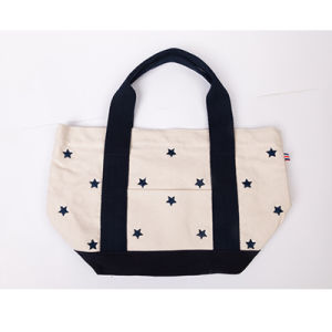 High Quality Fashionable Long Handle Easy Carrying Cotton Shopping Bags 2016 pictures & photos