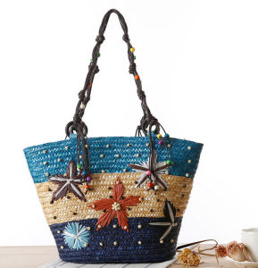 Wholesale New Design Natural Straw Women Lady Travelling Beach Bags
