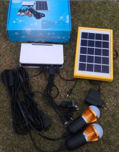 Factory Original Solar Power LED Lighting Kits System 1W*2PCS LED Light pictures & photos