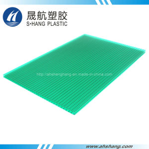 Colorful Hollow Polycarbonate Plastic Sheeting for Decoration pictures & photos