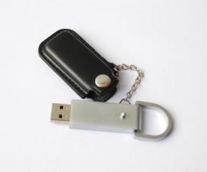 OEM Custom Logo Leather USB Flash Memory pictures & photos