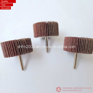 25*25*6.35mm Abrasive Flap Wheel with Shaft (VSM Zirconia & ceramic) pictures & photos