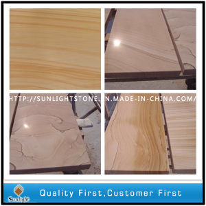 Chinese Natural Yellow Wood Vein Stone Sandstone pictures & photos