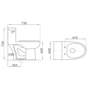 2150 Cupc Sanitary Ware Wc Siphonic One Piece Bathroom Ceramic Toilet pictures & photos