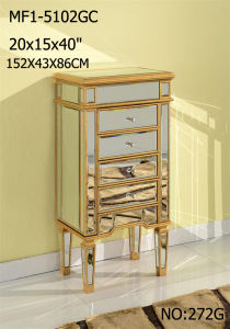 High Class Mirrored Customized Jewelry Armoire pictures & photos
