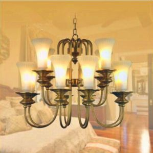 Traditional Elegant Design Glass Candles Pendant Lighting pictures & photos