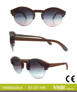 Fashion Wooden Sunglasees with High Quality (529-A) pictures & photos