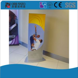 Indoor Aluminium Curved Standing Pylon Sign pictures & photos