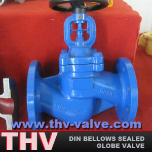 Cast Steel DIN Standard Bellows Sealed Globe Valve