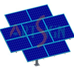 Solar PV Pole Support Kits Mount Mono Panel Installation PV Modules Ground Mounting pictures & photos