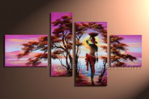 Hand Painted African Women Paintings Painting on Canvas for Home Decoration (AR-019) pictures & photos