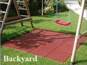 Waterproof Outdoor Backyard Rubber Floor Tile/Rubber Flooring pictures & photos