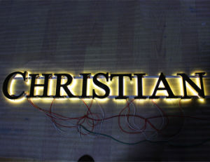 Backlit Polished Finish Stainless Steel Letter Sign (BLC-19) pictures & photos