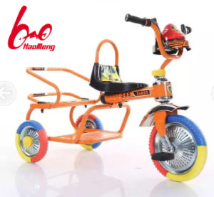 2017 New Model Classic Double Seat Kids Trike Tricycle pictures & photos