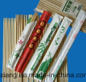 Paper Wrapped Disposable Bamboo Personalized Chopsticks pictures & photos
