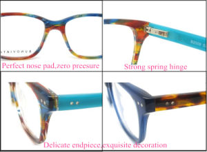 Wholesale New Fashion Patach Work Spectacles Acetate Material Ce FDA pictures & photos