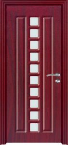 Economical Interior Design PVC Wooden Door (PVC wooden door) pictures & photos